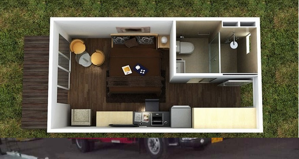 CANAM- mobile living house container with WPC