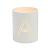 Letter A to Z pattern white ceramic wedding candle holder