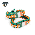 Manufacturer China Paracord Accessories Ireland Paracord Bracelet With Irish Flag Dog Tag Charms For Survival Bracelet