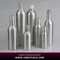 material oem fashion high quality vodka wine milk 500ml 750ml aluminum wine bottle