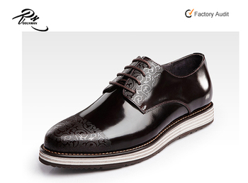 8b7bea856ffb Shiny Leather Laser Upper Platform Designer Shoes For Men - Buy ...