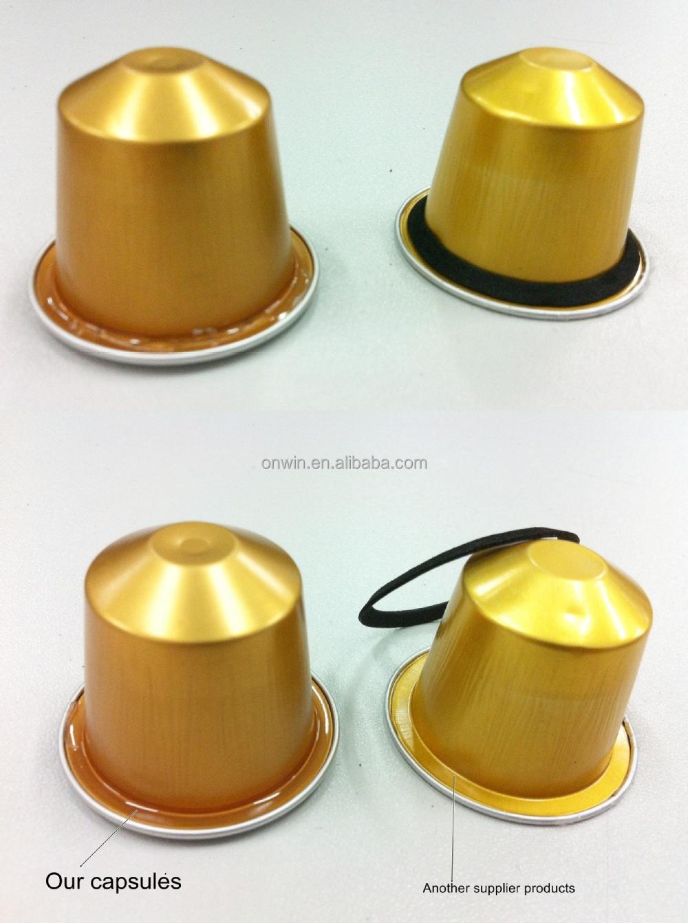 nespresso compatible coffee capsules for nespresso coffee machine buy alminium original. Black Bedroom Furniture Sets. Home Design Ideas