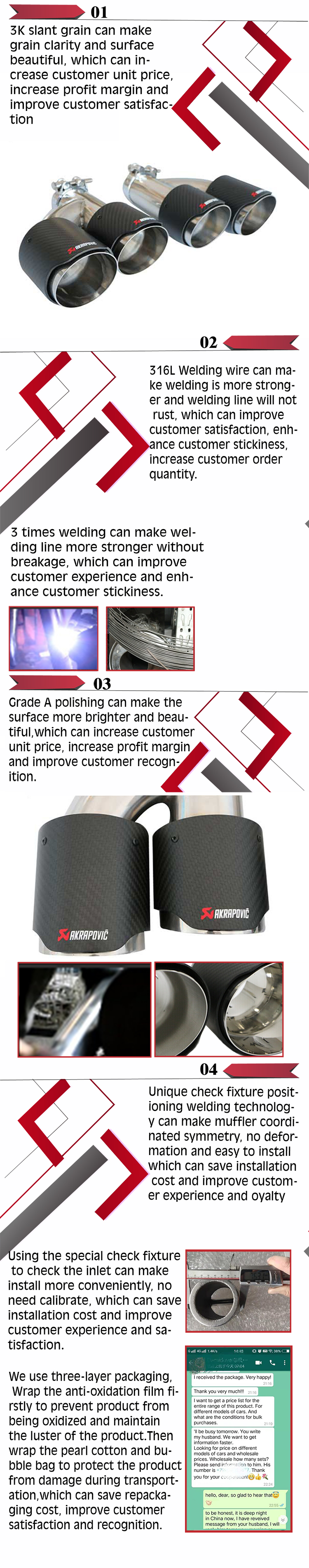 Chinese Gold Supplier Grwa Hot Sales High Quality Exhaust Dual Tip Carbon Fiber For Akrapovic