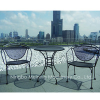 Outdoor Furniture Metal Mesh Table and Chair Patio Funiture