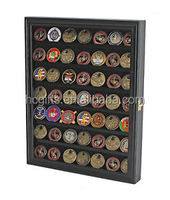 FREE artwork design high quality metal based enamel Military Challenge Coin Display Case