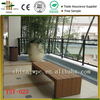 Wood plastic composite floor chair long outdoor park chair landscaping bench