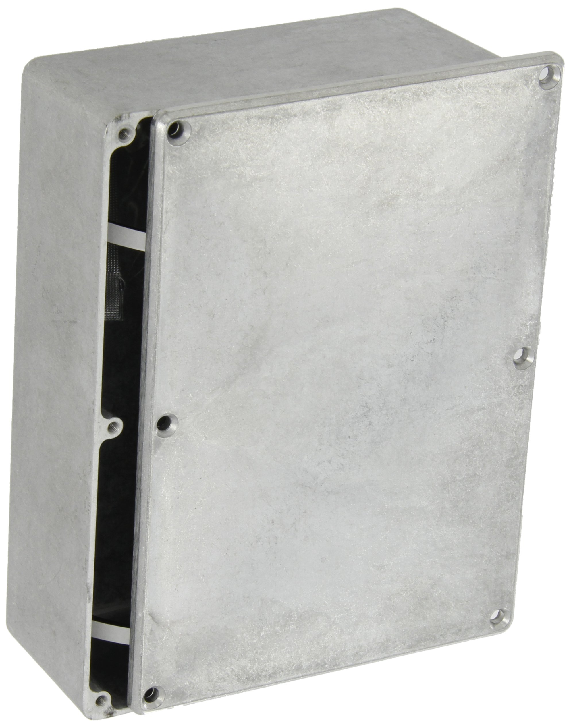 "BUD Industries CN-5709 Die Cast Aluminum Enclosure, 6-49/64"" Length x 4-49/64"" Width x 2-7/32"" Height, Natural Finish"