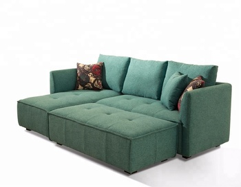 Factory Wholesale Furniture Teal Chaise Sectional Sofa With Long