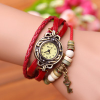 Retro Bracelet Series Watch Fashion Love Lock Key Write Watch Bracelet Wrist Watch