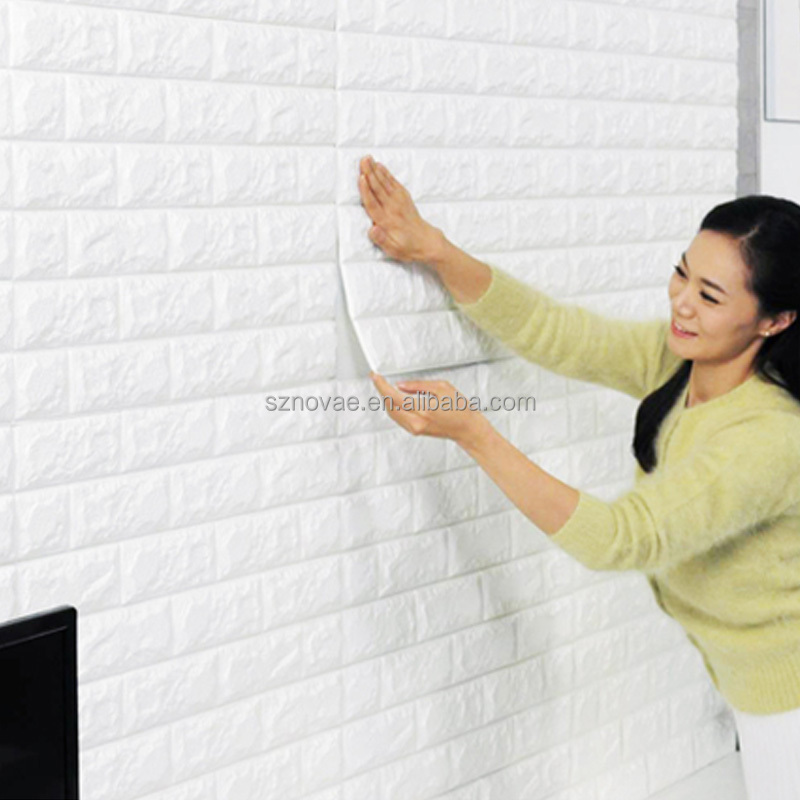 PE Brick Foam Board Eco-vriendelijke Stretchy Muursticker Decoratieve 3D Wall Panel