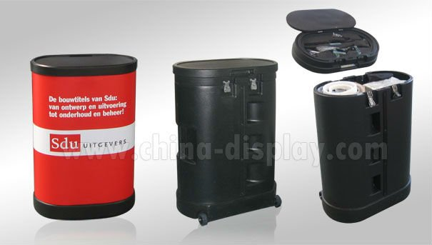 China Factory Portable Trade Show Pop Up Display Stand Advertising - Portable car show display stand