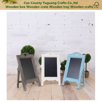 Wood Table Chalkboard Memo Message Sign