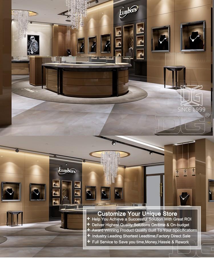 Jewellery shop interior design 3d rendering jewellery shop design