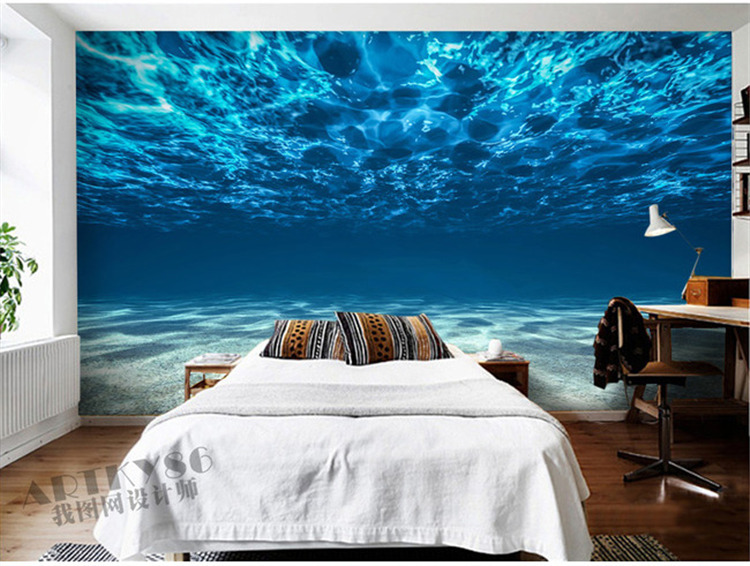 Aliexpress Com Buy Large Custom Mural Wallpapers Living: Charming Deep Sea Photo Wallpaper Custom Ocean Scenery