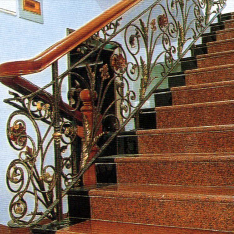 Building Materials Color Block Granite Interior Nature Stone Stair Steps For Hotel Interior Decoration