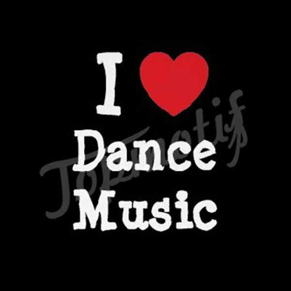 New Materials Korean PU Vinyl I Love Dance Music Heat Transfers For Tshirts