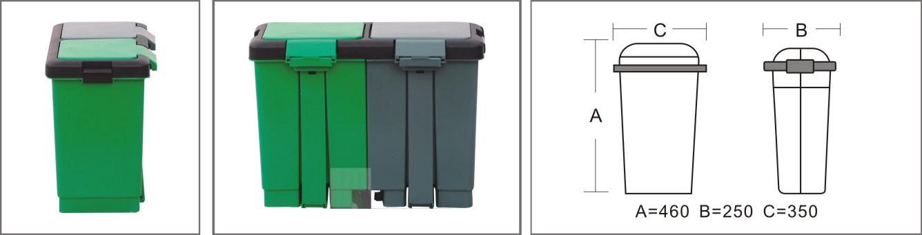 Kitchen Waste Bins #21: 15L Category Trash/restaurant Rubbish Bin/kitchen Waste Bins 15L