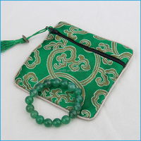 High quality christmas jewelry pouch velvet christmas gift bag