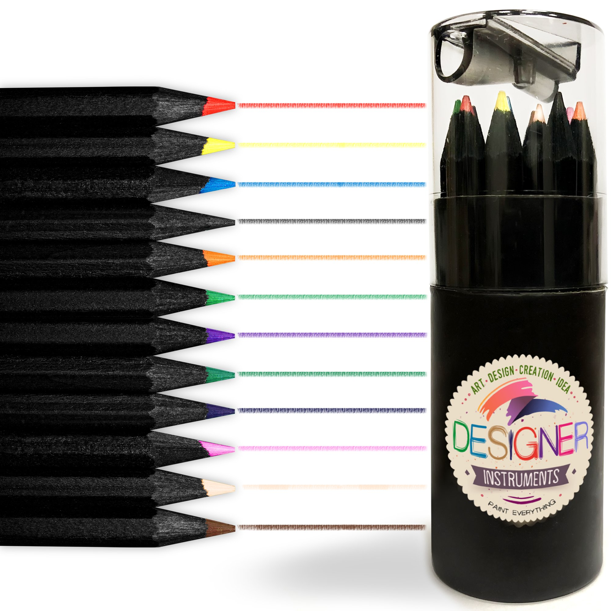 Colored Pencils - Drawing Pencils - Art Pencils - Coloring Pencils - Colored Pencil Set – Multi Erasable Bright Small Colored Pencils For Kids Girls Boys – Colored Pencil Box With Pencil Sharpener