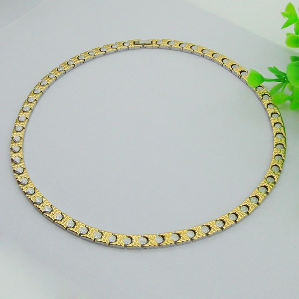european charm gold filled of S.S/titanium necklace