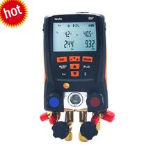 Refrigeration Digital Manifold Kit Bluetooth/App for Testo 557 0563 1557 with 2PCS Clamp Probes