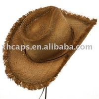 custom frayed straw hats for women