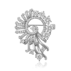 brooches-105 xuping safety pin brooch bouquet wedding crystal brooch
