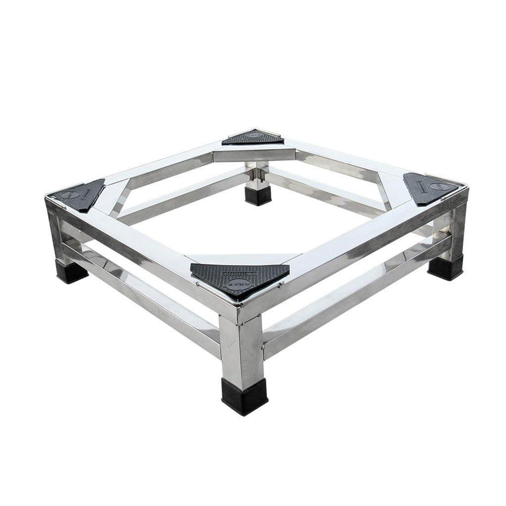 NUBAO Small appliance base Stainless steel base Heightening base Square base Side length 42 cm (16.54 inches) 15 cm (5.91 in)/20 cm (7.87 in) high Fixed four feet Base (Size : 20 cm (7.87 inches))