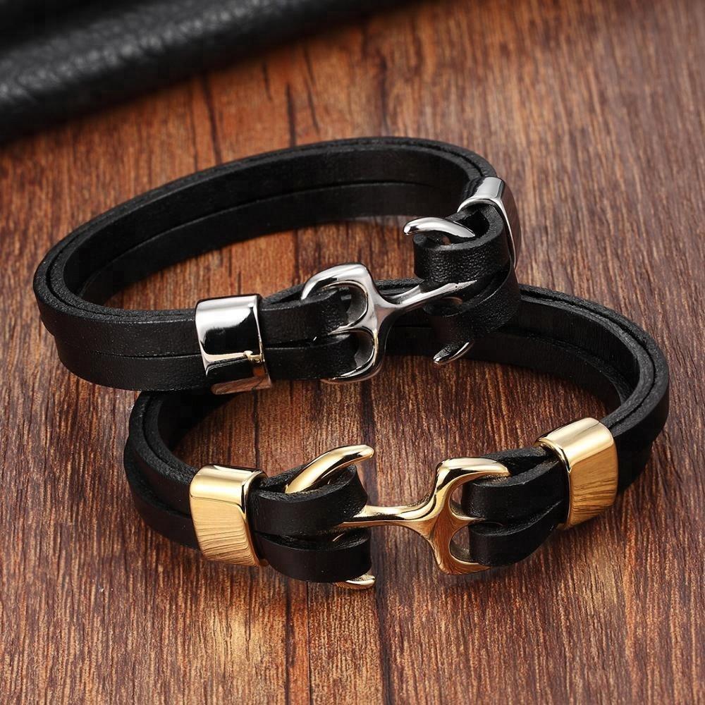 38e86395e8f3a Grossiste bracelet cuir et argent homme-Acheter les meilleurs ...