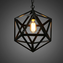 China suppliers industrial steel cage lamp shade with ST64 edison bulb