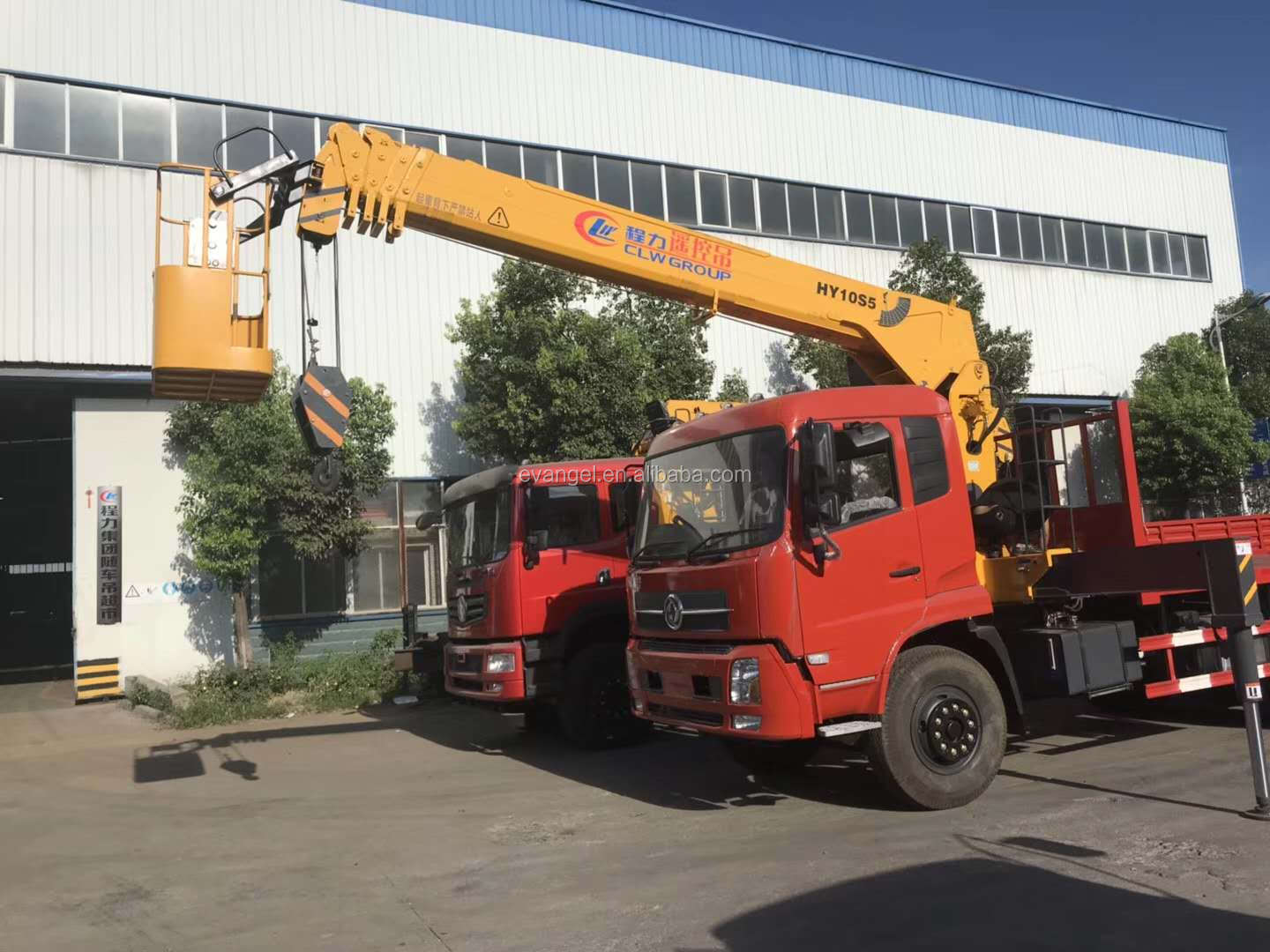 Dongfeng Truck With 10 ton Remote Control Crane HY10S5 for sale