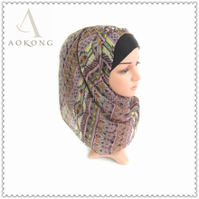 Stock lilac color singapore tribal scarf
