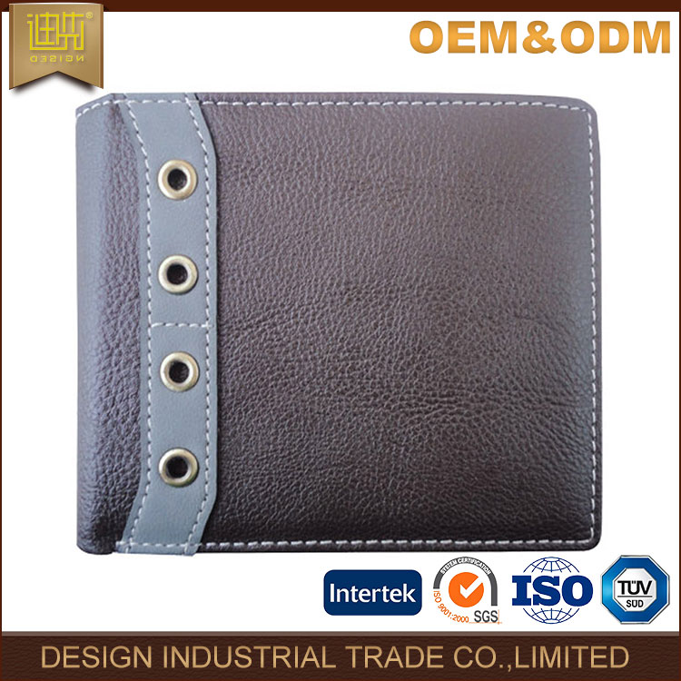2017 wallet supplier China high quality men's leather purses