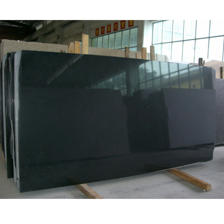 Top Quality Polished Chinese Shanxi Black Granite 3CM Thick Big Slabs For Sale