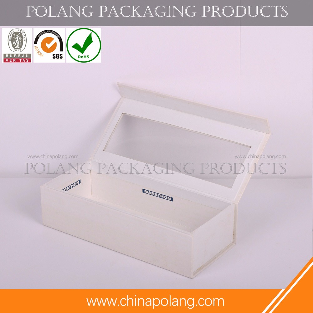 Customized cute printed food grade paper packaging cardboard cake box with Clear Window