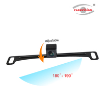 180-190 Degrees Number License Plate Mounting Front Backup Car Reverse Camera for Bus Van Truck Trailer RV Campers