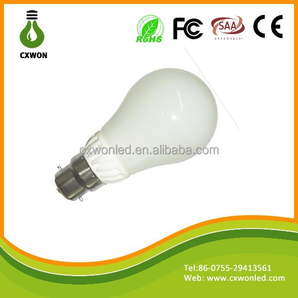 NEW design 9w smd 2835 ceramic 360 degree led bubl light , b22 led bayonet light bulb 240v