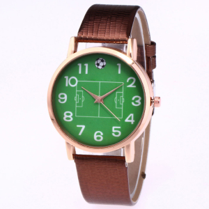 Promotion new arrival green face football sports watch gift for football fans