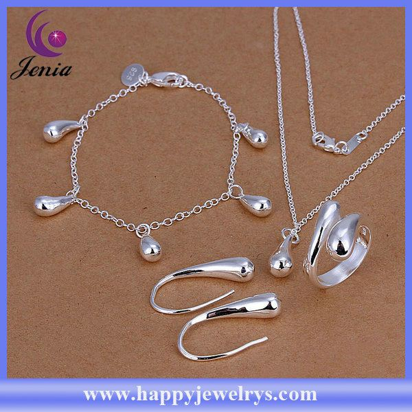 Fashion water drop shaped bracelet ,ring ,earring ,pendant set jewelry african jewelry sets ( CS223)