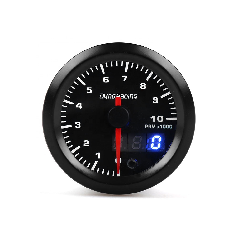White LED W//Warning 60MM DIESEL Tachometer Gauge Tacho 0-8000 RPM Smoked Lens
