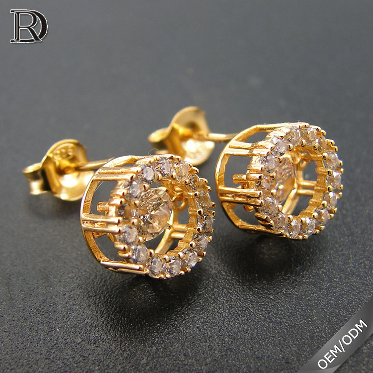 Trade assurance dancing diamond stud earrings in bulk