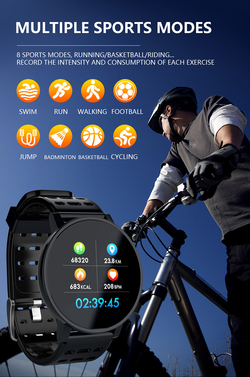 New Arrive Smart Band Better Than Id115 Hr Plus Veryfitpro