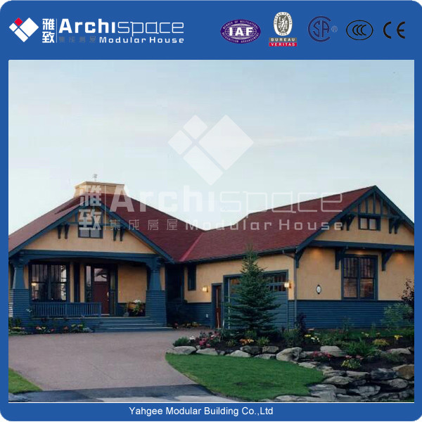 Professional light steel prefabricated villa manufactured in China