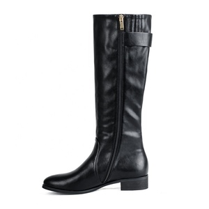 High Quality Wholesale Cheap Price durable PU Leather Ladies Tight Long Riding Boots with Buckles