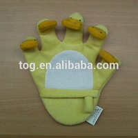 Plush Animal Glove finger puppet for bathing stuffed super soft cute duck children bath toy tool