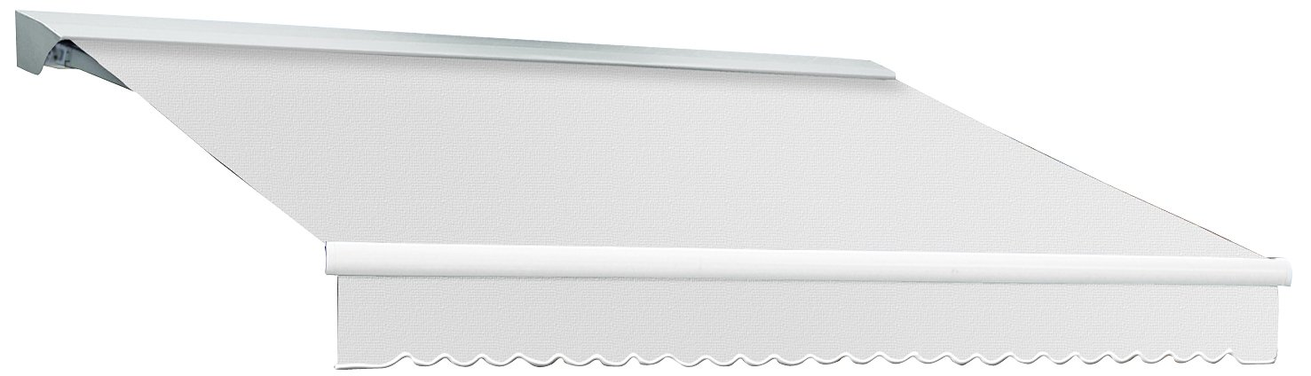 Awntech 12-Feet Destin-LX Hood Right Motor with Remote Retractable Awning, 120-Inch, Off White