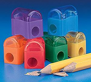~ 72 ~ Pencil Sharpeners ~ Primary Colors ~ 1 Inch ~ New