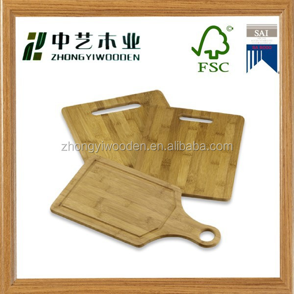 2015 china factory suppliers hot selling FSC&SA8000 OEM kitchen wooden pizza cutting board with cheese tool set