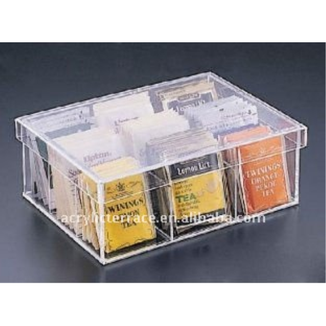 Acrylic Tea Bag Box Holder/ Acrylic Tea Bag Organizer
