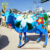 Hot Sale Life Size Fiberglass Multi-Color Cow Statue Sculpture